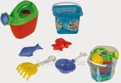 Песочный набор (5 предметов в ведерке) PILSAN 06-115