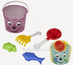 Sand set (4 subjects in a bucket) PILSAN 06-117
