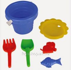 Песочный набор (5 предметов в ведре) PILSAN 06-123