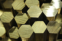 Brass hexahedron