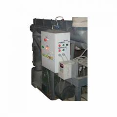 Press the granulator MG for a granulation of