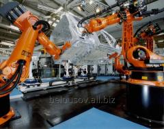 Robots industrial for contact welding