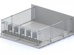 Metal cage for contents suporosny fresh-frozen