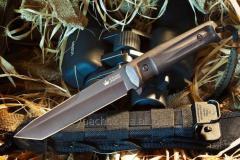 Kizlyar Supreme knife Black Aggressor, excellent