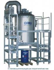 Системы регенерации растворителей и воды