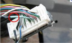 Cables for the alarm system and blocking