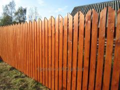 Fence wooden for the seasonal dacha