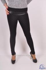 Лосины женские стрейчевые (цвет черный) SL 334