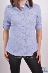 Рубашка женская стрейчевая (цвет голубой) Madoy