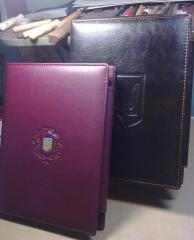Business folders.