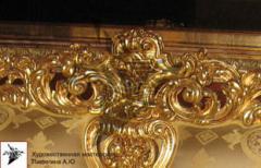 Gilding of interiors, silvering, Kiev