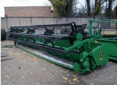 Harvesters are grain. Harvester of Johne Deere