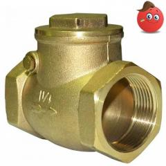 Backpressure valve rotary brass Valvo of Du 32