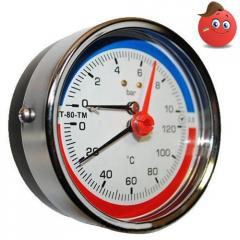 Manometers with thermometers, thermal manometers