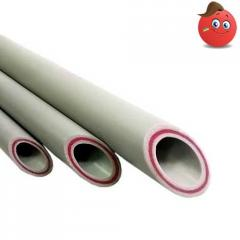The polypropylene pipe PP-R-GF with a fiber