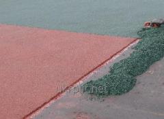 Crumb the pigmented SBR