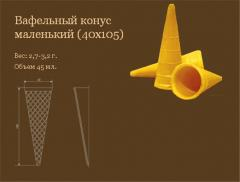 Semi-finished products are wafer. Wafer cone small