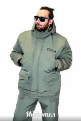 Костюм куртка и комбинезон (охрана) теплый на флисе