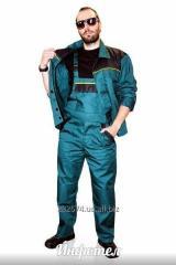 Костюм мужской рабочий куртка и комбинезон