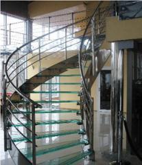Лестницы из стекла, мрамора, гранита, дерева и