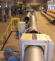 Line of isolation of pipes extruded polyethylene