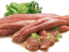 The pork tenderloin cooled