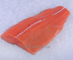 Fillet of a salmon okhl salty