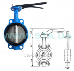 The gate with the rotary disk BUTTERFLY STROKE for