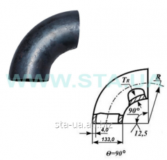 Branch steeply curved 159kh4,5mm steel welded GOST