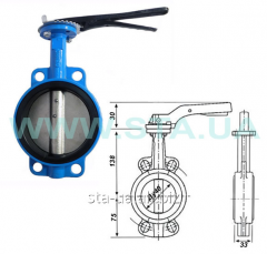 The valve rotary BUTTERFLY STROKE for water of Du