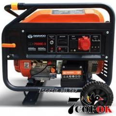 Бензиновый генератор Daewoo GDA 7500Е-3
