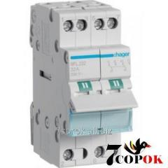 The I-0-II switch of input of a