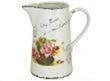 The jug is ceramic
