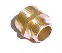 Nipple brass transitional 1/2H x 1H