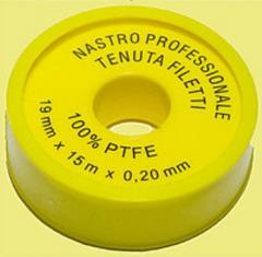 Fum tape professional of 3/4 Yellow 19 mm x 0,2 x