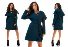 Stylish cashmere coat. Each woman of fashion has