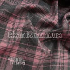 Ткань Тиар плотный клетка (розово-серый)