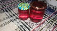 Red honey from pine, smerekovy cones