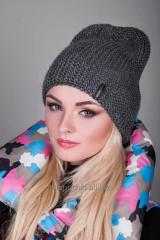 Cap knitted model 110 color dark gray