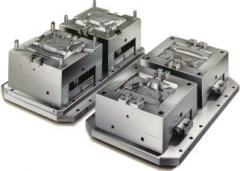 Compression molds for molding of plastic,
