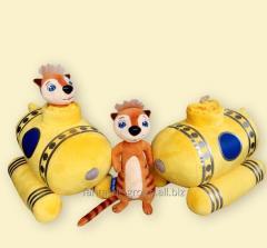 Soft toy of Ricky Tikki in a submarine