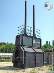 Furnace tubular heating horizontal PTNG-1.0