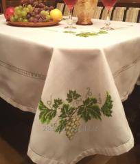 The cloth embroidered Grapes