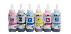Светостойкие чернила INKSYSTEM для фотопечати на Epson Colorio EP-707A (фоточернила)
