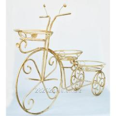 Подставка для цветов кованая Велосипед средний