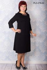 Платье PL3-279 черный трикотаж шанель