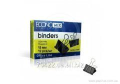 Биндер для бумаги Economix- 15 мм,  12 шт