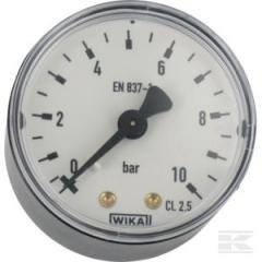 He manometer frontal with back connection 0-10