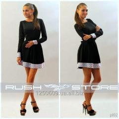 Flared dress with pl02 lace