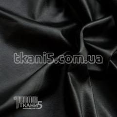 Ткань Кожзам на велюре (черный)